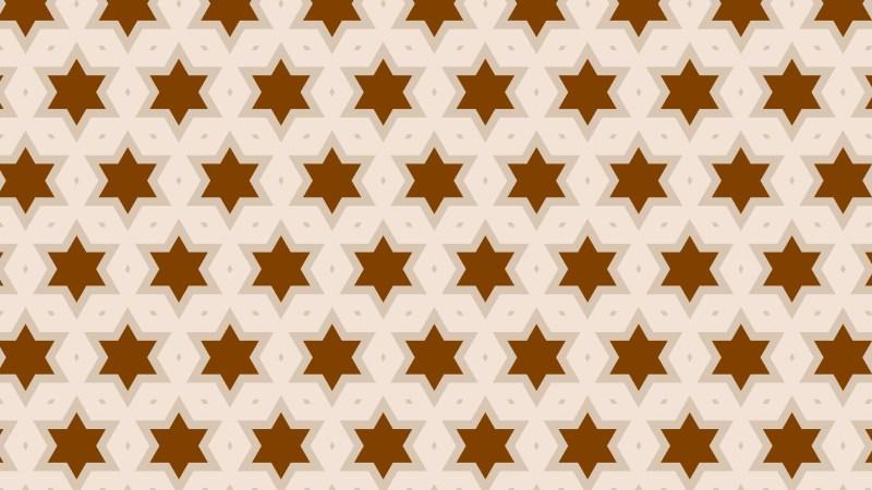 Brown Stars Pattern Background Vector Art