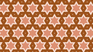 Brown Stars Background Pattern Graphic
