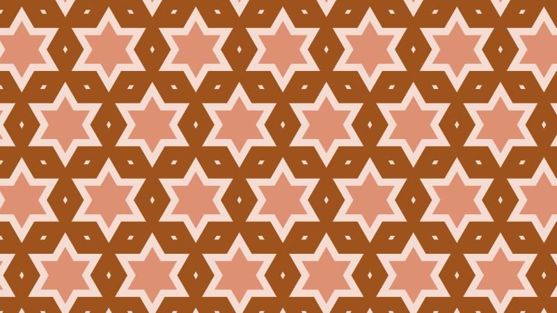 Brown Stars Background Pattern Graphic
