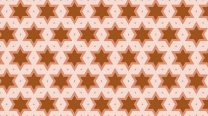 Brown Seamless Stars Pattern Illustration