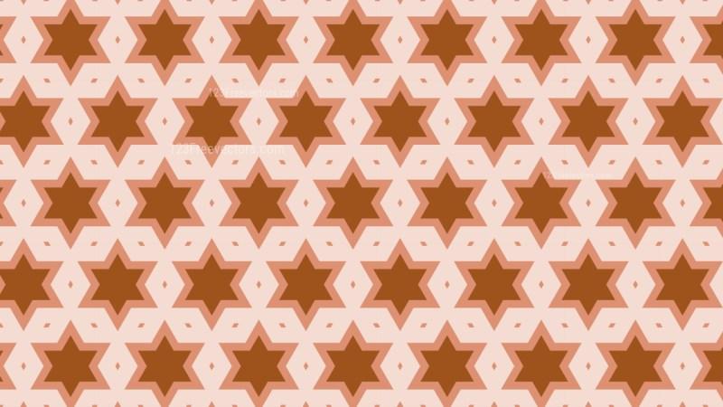 Brown Seamless Stars Pattern Illustration