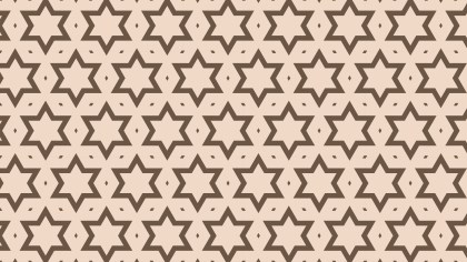 Brown Seamless Stars Pattern Background Design