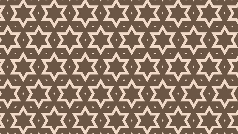 Brown Seamless Stars Background Pattern Image