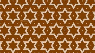 Brown Star Pattern Background