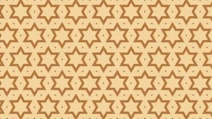 Brown Star Background Pattern