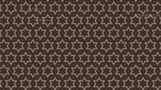 Dark Brown Seamless Star Background Pattern