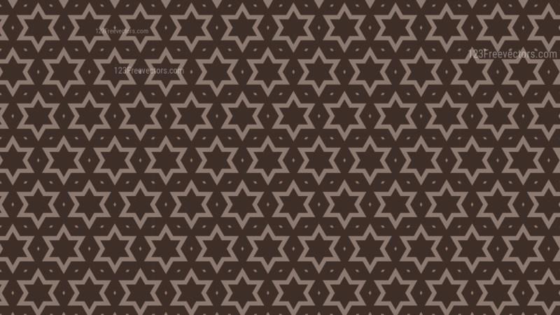 Dark Brown Seamless Star Background Pattern