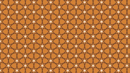 Brown Star Background Pattern Vector