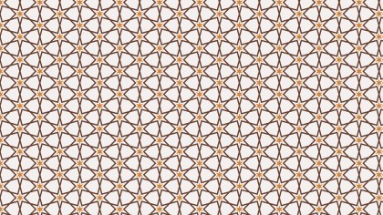 Brown Seamless Star Pattern Vector Art