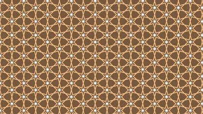 Brown Stars Pattern Background Image