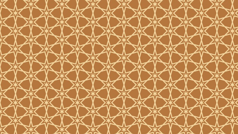 Brown Seamless Stars Pattern Background Illustrator