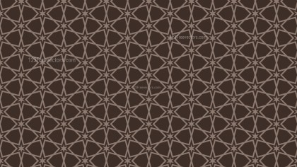 Dark Brown Star Background Pattern