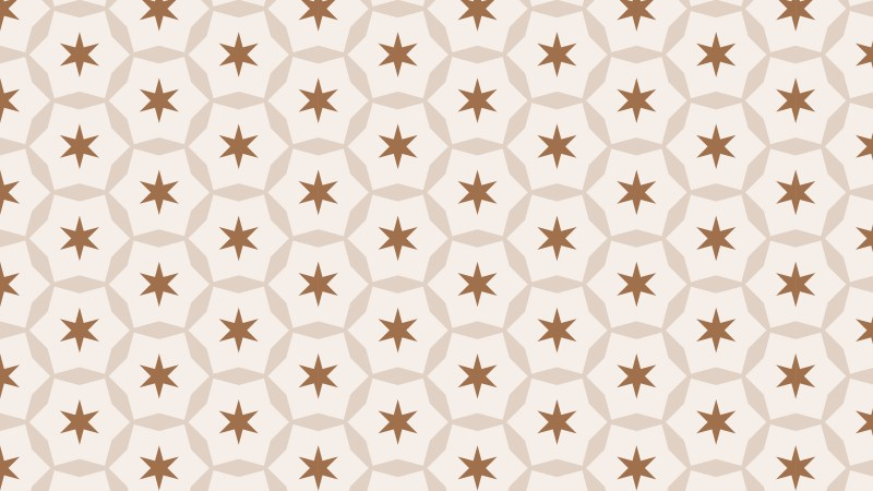 Light Brown Seamless Stars Pattern Background