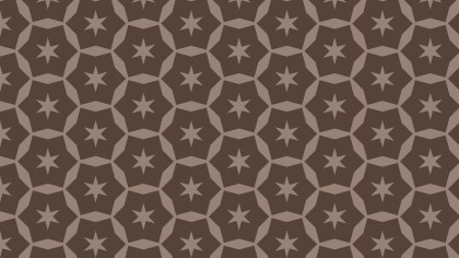 Dark Brown Star Pattern Background Illustration