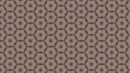 Brown Star Background Pattern Design