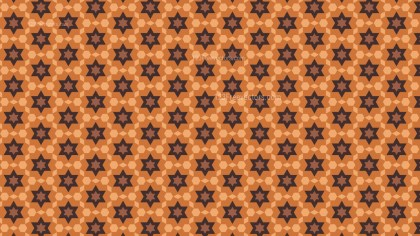 Brown Stars Pattern Background Vector Illustration