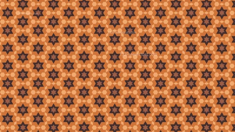 Brown Stars Pattern Background Vector Illustration