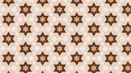 Brown Stars Background Pattern Vector