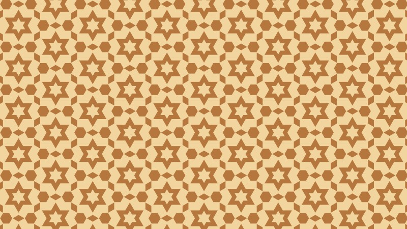 Brown Seamless Stars Pattern Background Graphic