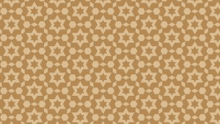 Brown Star Pattern Background