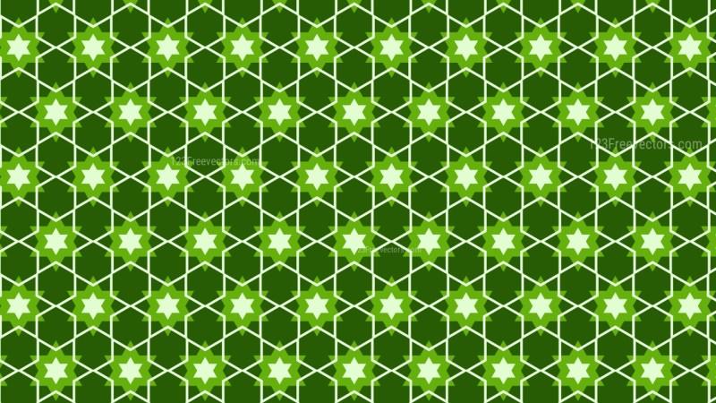 Dark Green Star Pattern Background Vector Image