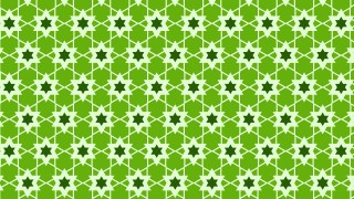 Green Seamless Star Pattern Vector Illustration