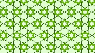 Green Seamless Star Background Pattern Vector Art