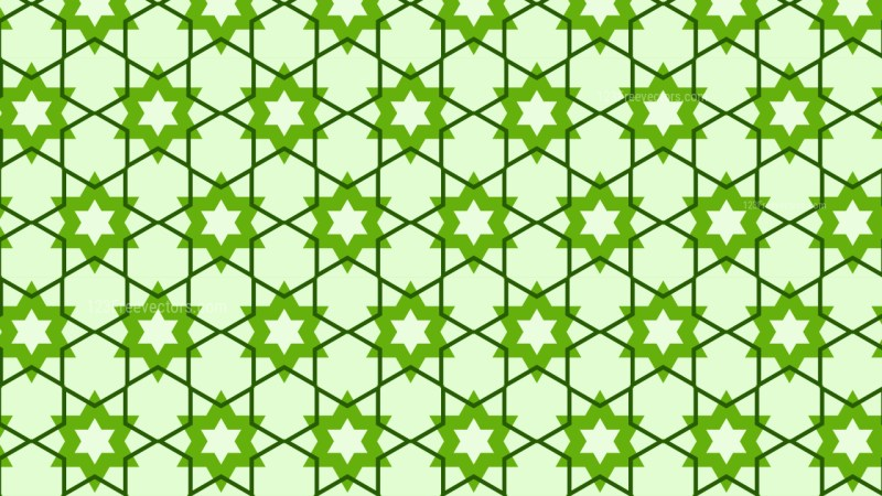 Green Seamless Star Background Pattern Vector Art