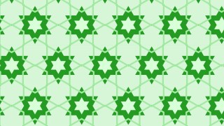 Green Stars Pattern Background Illustration