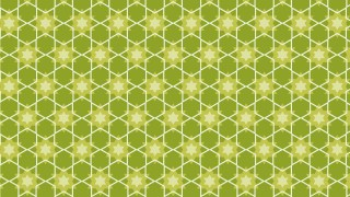 Green Stars Background Pattern Design