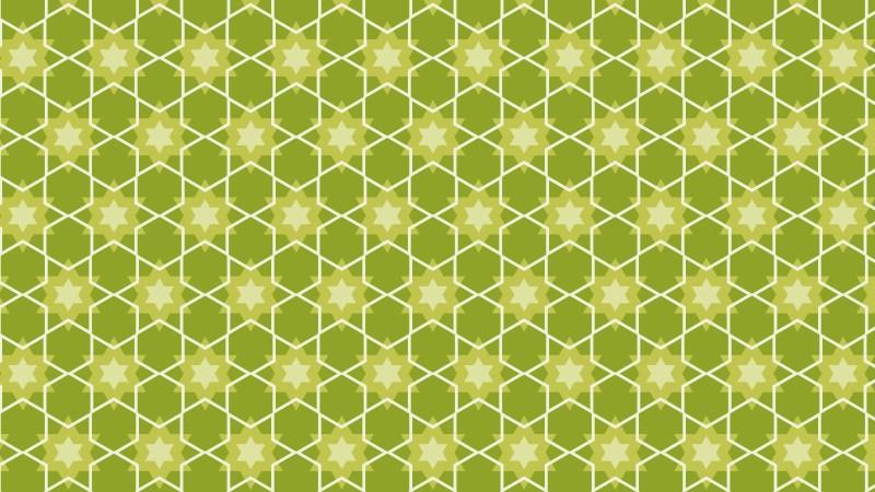 Green Stars Background Pattern Design