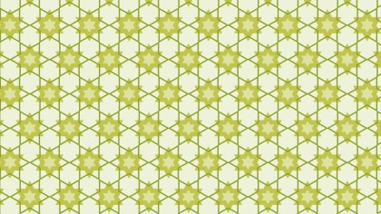 Light Green Seamless Stars Pattern Background Vector Graphic
