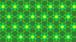 Green Star Pattern Background