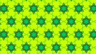Lime Green Seamless Star Pattern