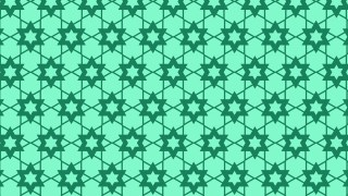 Mint Green Seamless Star Pattern Background