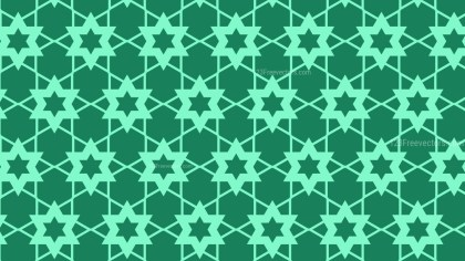 Mint Green Seamless Star Background Pattern