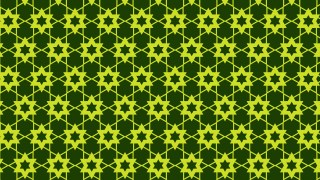 Dark Green Stars Pattern Background
