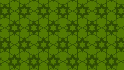 Dark Green Stars Background Pattern