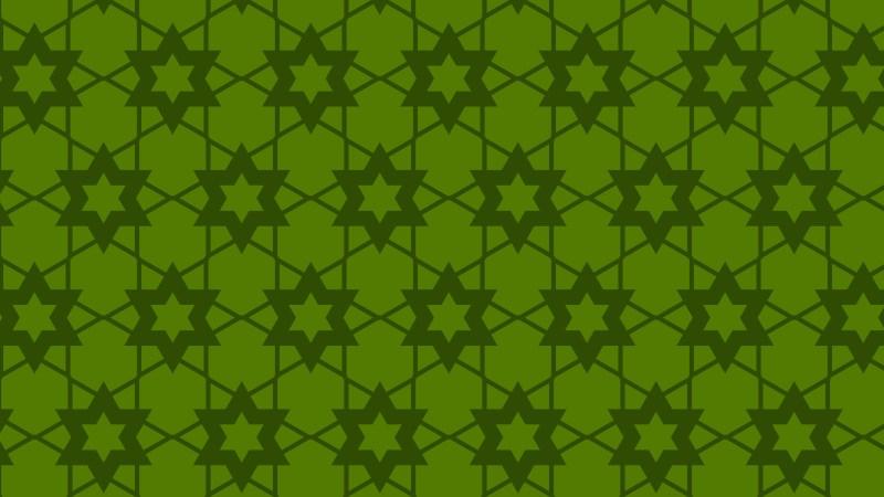Dark Green Stars Background Pattern