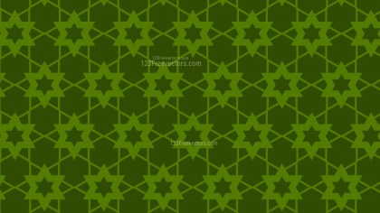 Dark Green Seamless Stars Pattern