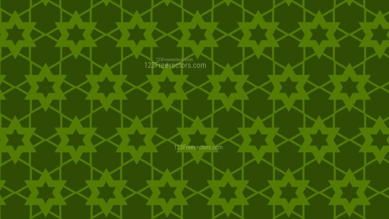 Dark Green Seamless Stars Pattern