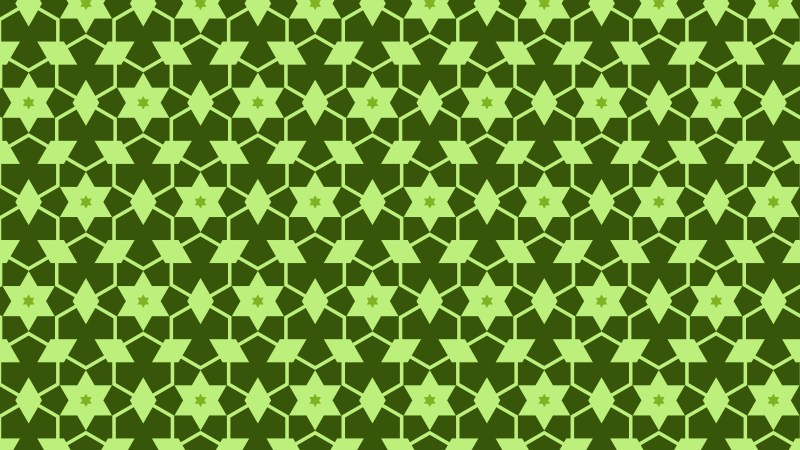Green Stars Background Pattern Illustrator