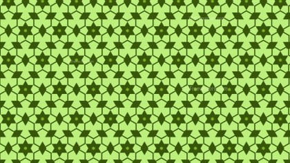 Green Seamless Stars Pattern Vector Illustration