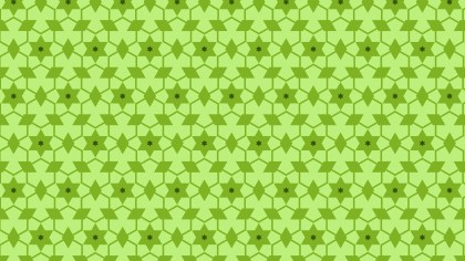 Lime Green Seamless Stars Pattern Background Vector
