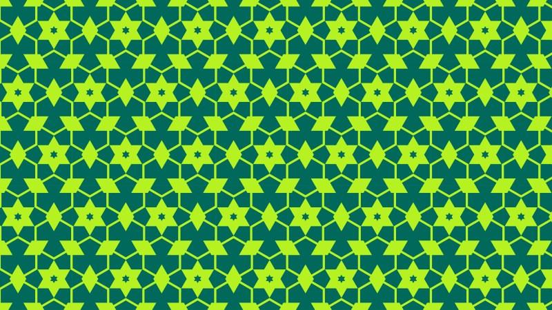 Green Seamless Stars Background Pattern Vector Art