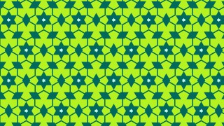 Green Star Pattern