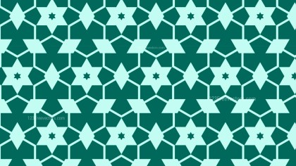 Green Star Pattern Background