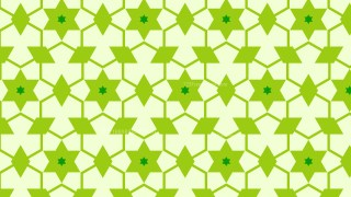Green Seamless Star Background Pattern