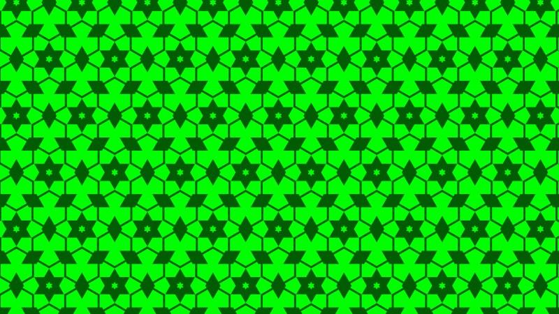 Neon Green Stars Background Pattern