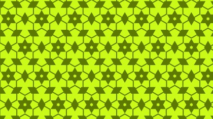 Lime Green Seamless Stars Pattern Background